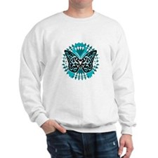 PCOS-Butterfly-Tribal-2-blk Sweatshirt