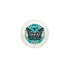 PCOS-Butterfly-Tribal-2-blk Mini Button