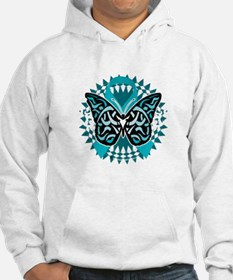 PCOS-Butterfly-Tribal-2-blk Hoodie