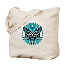 PCOS-Butterfly-Tribal-2-blk Tote Bag