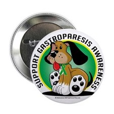 "Gastroparesis-Dog 2.25"" Button"