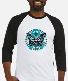 PCOS-Butterfly-Tribal-2-blk Baseball Jersey