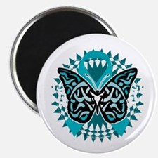PCOS-Butterfly-Tribal-2-blk Magnet