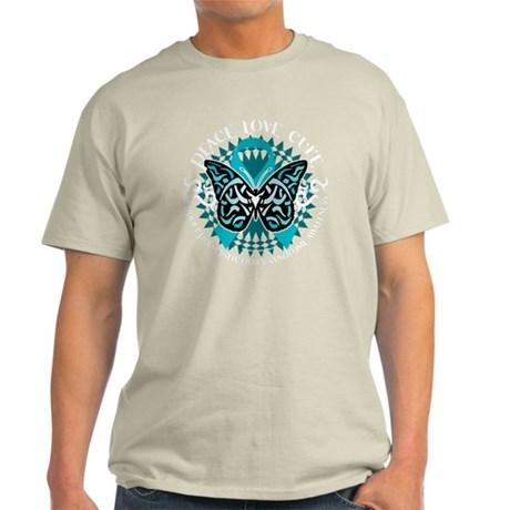 PCOS-Butterfly-Tribal-2-blk Light T-Shirt