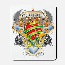Gastroparesis-Cross--Heart-blk Mousepad