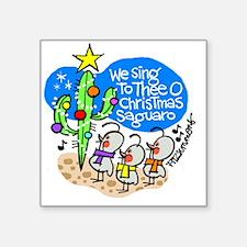 "christmassaguaro Square Sticker 3"" x 3"""