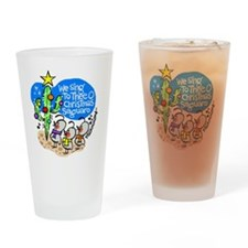christmassaguaro Drinking Glass