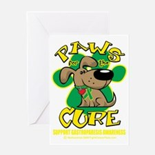 Paws-for-the-Cure-Gastroparesis-blk Greeting Card