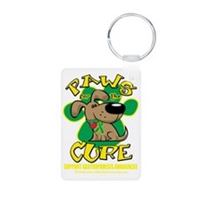 Paws-for-the-Cure-Gastropa Aluminum Photo Keychain
