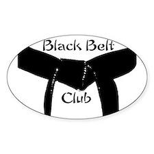 Martial Arts Black Belt Club Decal
