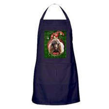 DeckHalls_Poodles_Chocolate Apron (dark)
