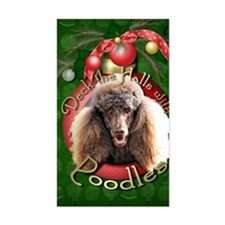 DeckHalls_Poodles_Chocolate Decal