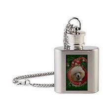 DeckHalls_Poodles_Apricot Flask Necklace