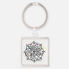 Skin-Cancer-Lotus Square Keychain