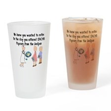 Retired Nurse Story Art Drinking Glass