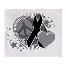 Skin-Cancer-PLC-2-blk Throw Blanket
