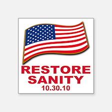 "restore sanity Square Sticker 3"" x 3"""