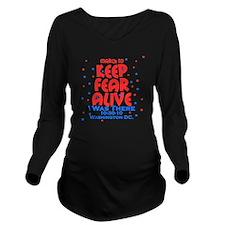 keep fear alive Long Sleeve Maternity T-Shirt