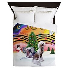 XMusic 2 - Chinese Crested (2HL) Queen Duvet