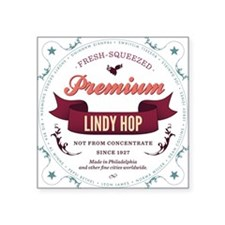 "Lindy Hop Coaster Square Sticker 3"" x 3"""