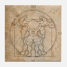 big_vitruv_clock Tile Coaster