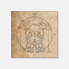 "big_vitruv_clock Square Sticker 3"" x 3"""