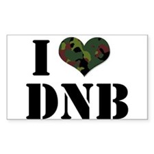 I Heart Drum & Bass Rectangle Decal