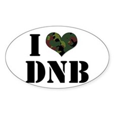 I Heart Drum & Bass Oval Decal