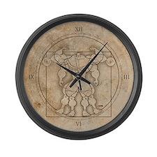 2-vitruv_clock Large Wall Clock