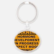 HORMONE1 Oval Keychain