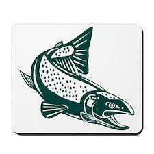 trout fish jumping Mousepad