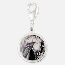 The Grey Andalusian Silver Round Charm