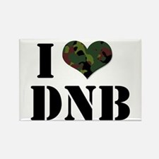 I Heart Drum & Bass Rectangle Magnet