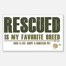 Rescue Pets Sticker (Rectangle)