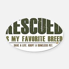 Rescue Pets Oval Car Magnet