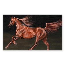 Chestnut Arab Horse Decal