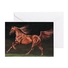 Chestnut Arab Horse Greeting Card