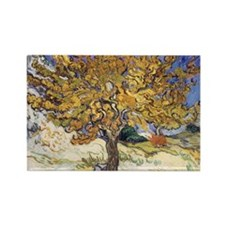 Mulberry Tree by Vincent Van Gogh Rectangle Magnet