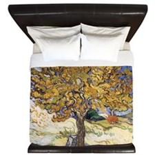 Mulberry Tree by Vincent Van Gogh King Duvet