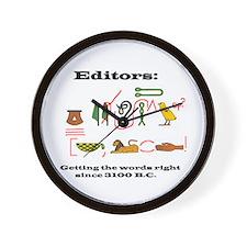 Editors in History Wall Clock
