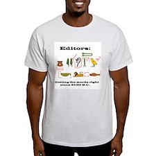 Editors in History Ash Grey T-Shirt