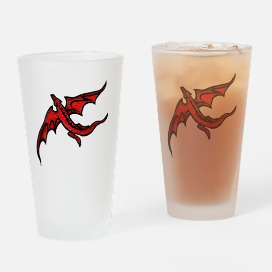 RED_D Drinking Glass