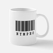 Nympho Barcode Design Mug