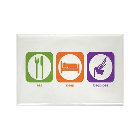 Eat Sleep Bagpipes Rectangle Magnet