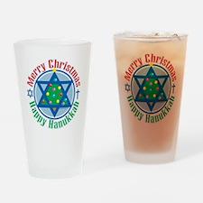 Christmas-Hanukkah Drinking Glass