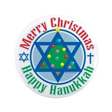 "Christmas-Hanukkah 3.5"" Button"
