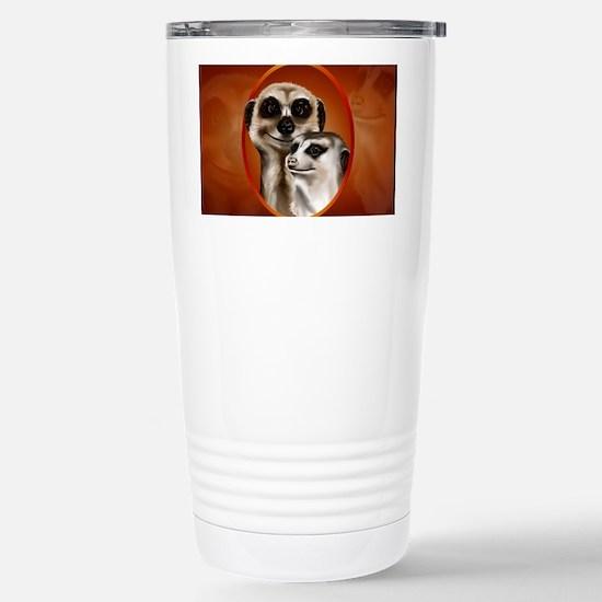 Meerkat Couple-Yardsign Stainless Steel Travel Mug