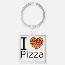 IHeartpizza Square Keychain