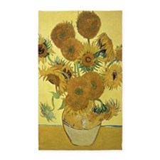 Sunflowers by Vincent Van Gogh 3'x5' Area Rug