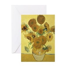 Sunflowers by Vincent Van Gogh Greeting Card